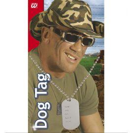 Collar chapas militar