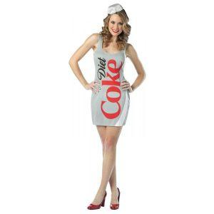 Disfraz botella de coca cola light mujer