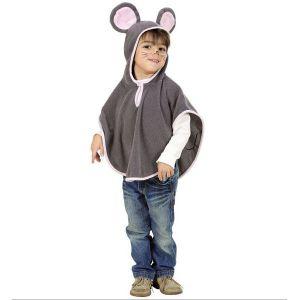 Disfraz raton poncho infantil