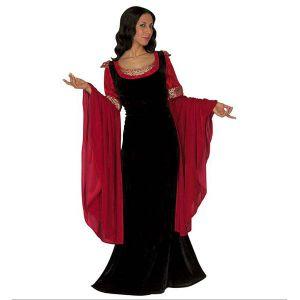 Disfraz princesa fantasia terciopelo