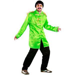 Disfraz estrella del pop verde adulto