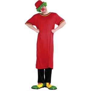 Disfraz payaso camisa roja adulto