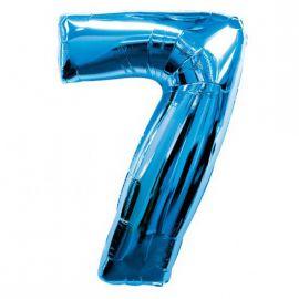 Globo helio numero 7 azul