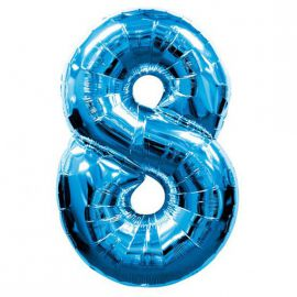 Globo helio numero 8 azul