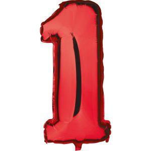 Globo helio numero 1 rojo