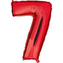 Globo helio numero 7 rojo