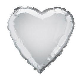 Globo helio corazon plata