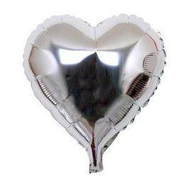 Globo helio corazón jumbo plata