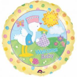 Globo helio welcome baby