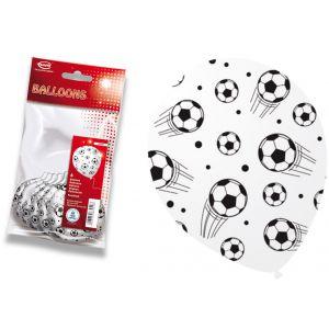 Globos fútbol pack 6 unidades