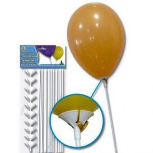 Varilla con soporte para globos 12 und