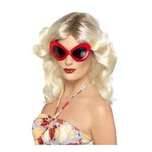 Gafas diva de los 70 rojas