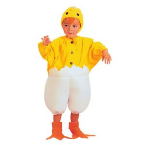 Disfraz pollito cascaron 2-4 a?os