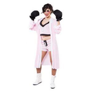 Disfraz boxeadora rosa chica