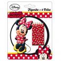 Set velas Minnie Mouse (pack 6 und)