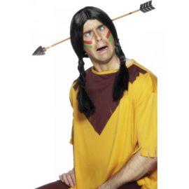 Flecha indio atravesando cabeza