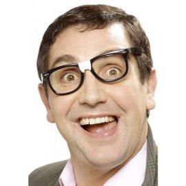 Gafas nerd cretino negras