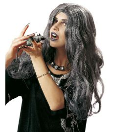 Peluca zombie chica gris