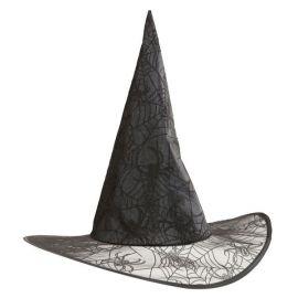 Sombrero bruja gliter negro