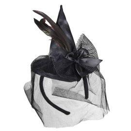 Mini sombrero bruja negro glamour