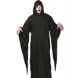 Tunica negra con capucha