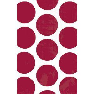 Bolsa papel lunares rojos pack 10 und