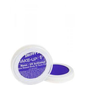 Maquillaje profesional neon azul al agua