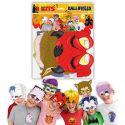 Caretas carton halloween pack 8 und
