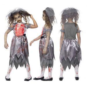 Disfraz novia fantasma infantil