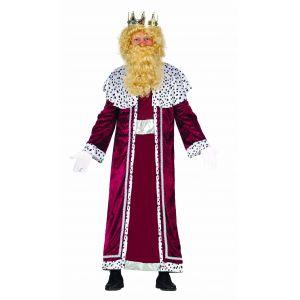 Disfraz rey mago burdeos adulto