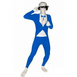 Disfraz morphsuit esmoquin azul