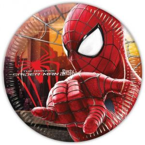 Platos spiderman (8 unid)