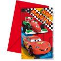 Invitaciones cars (6 uds)