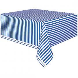 Mantel lineas azules 1.37x2.74