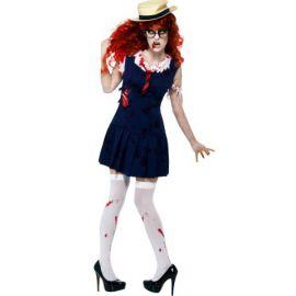 Disfraz estudiante zombie con sombrero