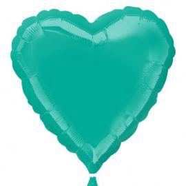Globo helio corazon verde teal