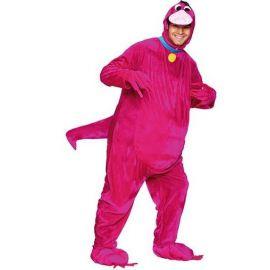Disfraz dinosaurio rosa adulto