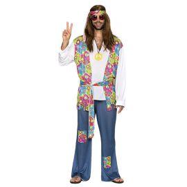 Disfraz hippie hombre parches