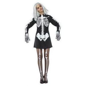 Disfraz esqueleto chica