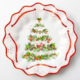 Platos arbol de navidad 8und