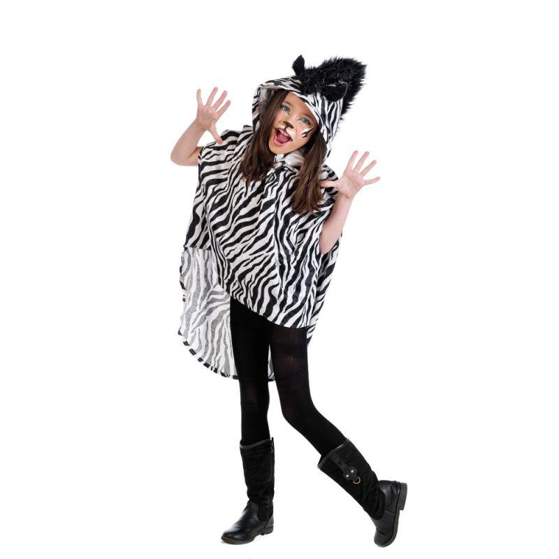 Disfraz poncho cebra infantil for Disfraz de cebra