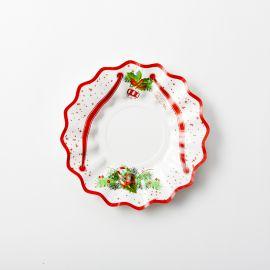 Platos arbol de navidad pequeños 8 unidades