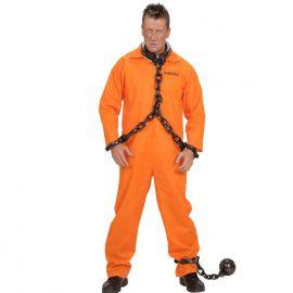 Disfraz preso naranja xl