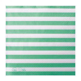 Servilletas lineas verde menta 20 und
