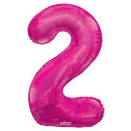 Globo helio numero 2 rosa