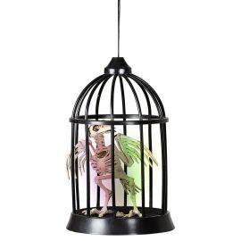 Cuervo en jaula con sonido