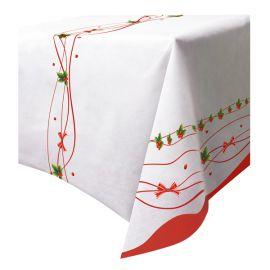 Mantel lazo rojo navidad 140x240