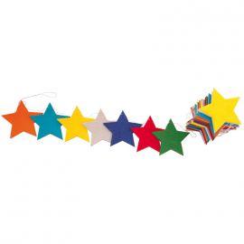 Guirnalda estrellas fieltro 2 metros