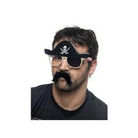 Gafas pirata con parche deluxe