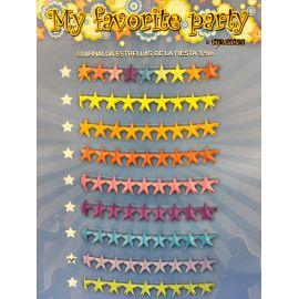 Guirnalda estrellas amarillas 3,5 m